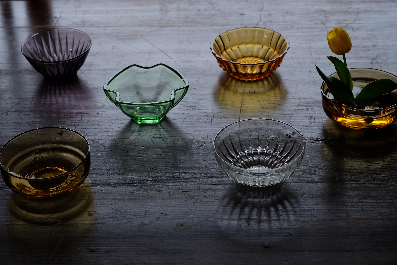 レトロガラスの器